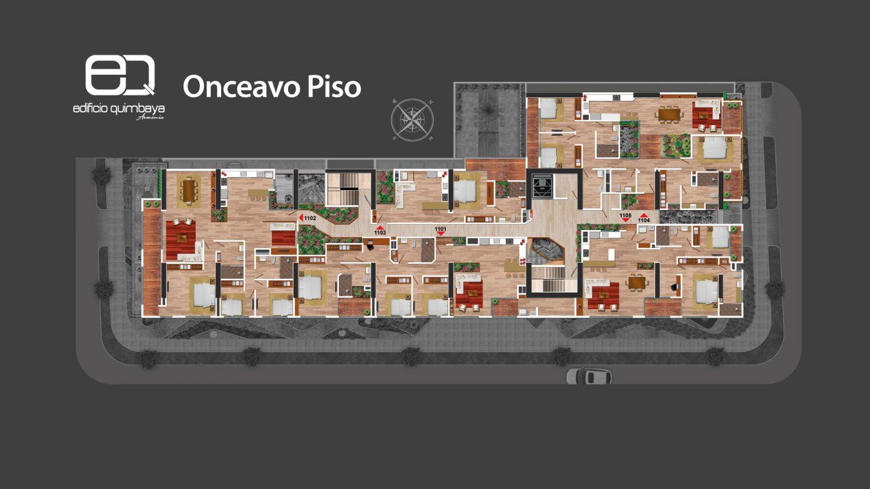 Onceavo piso Edificio Quimbaya