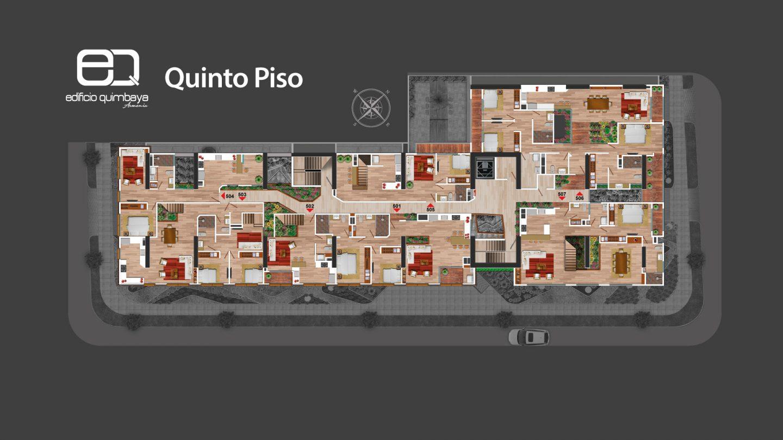 Quinto piso Edificio Quimbaya